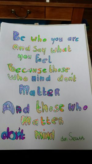 Words Be Who You Are Dr. Seuss