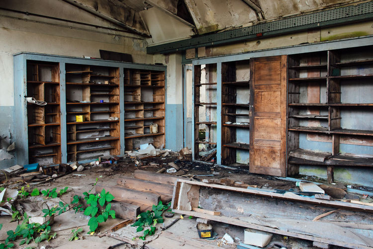 Factory Office Urbex Abandoned Abandoned Absence Architecture Bankrupt Building Built Structure Ceiling Damaged Day Destruction Deterioration Domestic Room Dust Indoors  Industry Large Group Of Objects Messy No People Obsolete Old Ruined Run-down Shelf Window Wood - Material Interior