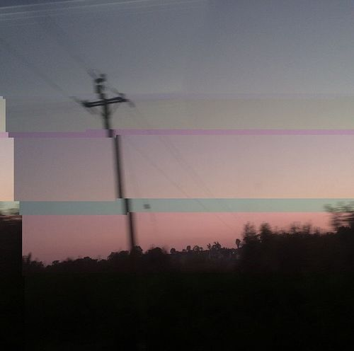 Glitch Art Pink Countryside Ireland