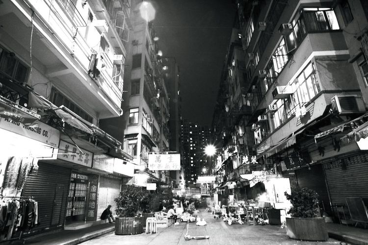 Nikon Fm2 B&w Photography Film Photography Hong Kong Built Structure Architecture City City Life Building Exterior Day Low Angle View