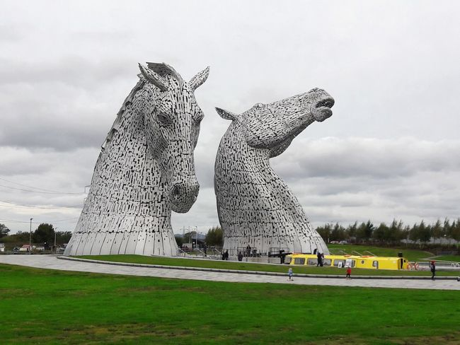 The Kelpies. The worlds largest equine sculpture. In Falkirk, Scotland.