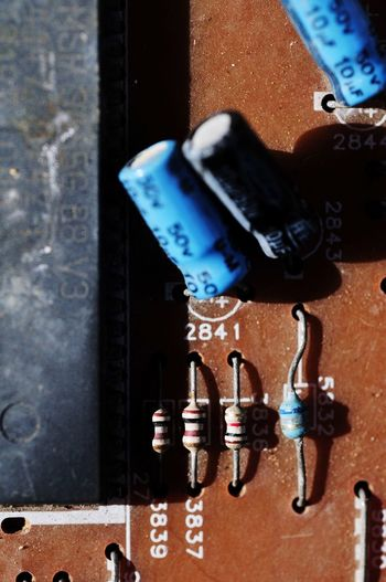 Illustration Electronic PCB Electrical Equipment Electronics Industry Resistors Part Of Key Rusty Lock Metal Close-up