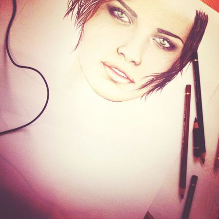 Adriana Lima Pretty Art ArtWork polychromos - din a3