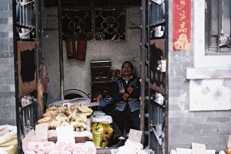 自家门口就是小档口 Guangzhou Canton Kodak Film Oldstreet Old History Life Funny Joy