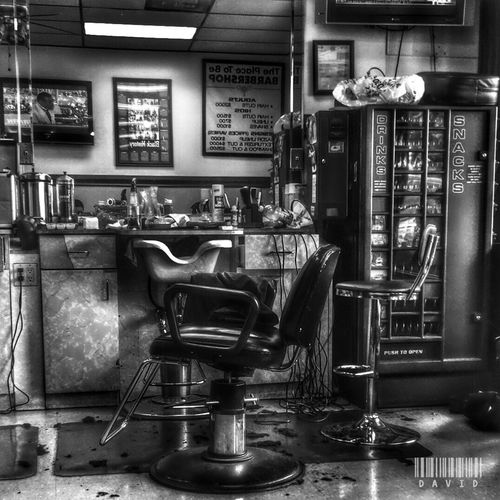 Shop in B&W Barber Shop Black And White HDR Collection HDR