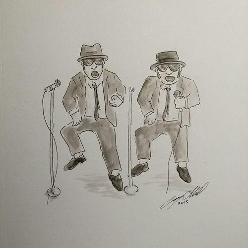 Blues bros Bluesbrothers Blues Caseyoneillart Toronto Torontoartist Sketch Sketchbook Illustration