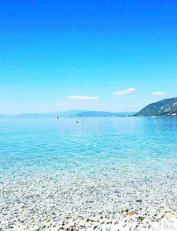 Ohridlake Horizon Over Water Blue Beach Outdoors Nature No People Beauty In Nature Sky Water Ohrid, Macedonia