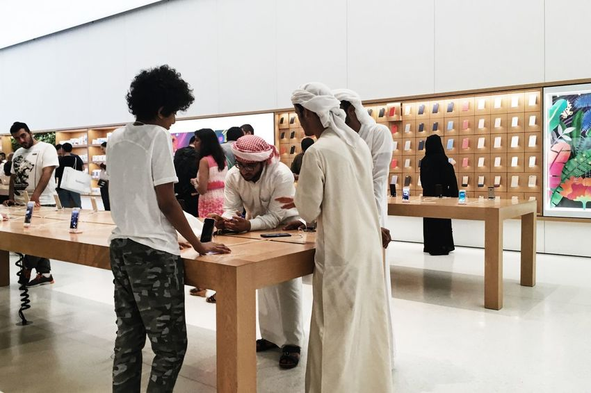 Apple Store, Dubai, UAE Apple Apple Shop Apple Store Apple Store Dubai Bride Clothing Clothing Store Customer  Fashion Indoor Photography Indoors  Indoors  IWatch IWatch Apple Large Group Of People Real People Real People Photography Retail  Shop Standing Standing Store Stores Wedding Dress Women