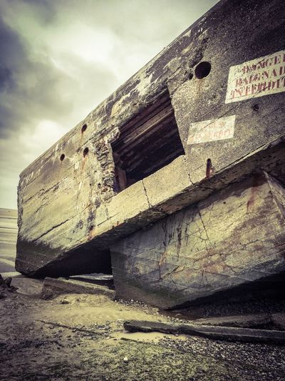 Historic Vestiges Of The Past Beach France Baie De Somme  Sand Bunker War Capture The Moment Point Of View