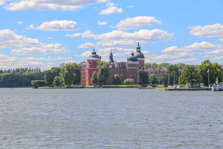 Castle Gripsholm Gripsholms Slott Architecture Building Building Exterior Built Structure City Cloud - Sky Day History Landscape Nature No People Outdoors Plant River Seaside Sky The Past Travel Travel Destinations Tree Water Waterfront