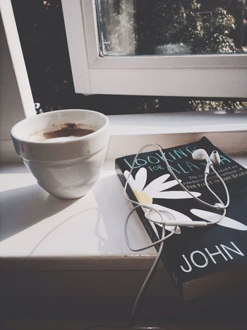 re reading it for the 6th time oops Coffee Reading & Relaxing John Green Enjoying Life