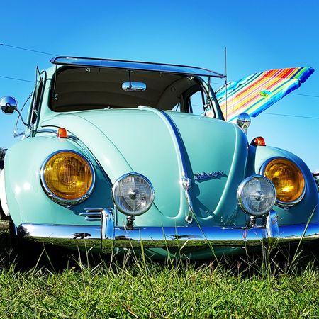 Car Land Vehicle Retro Styled Collector's Car Headlight Sky Vintage Car