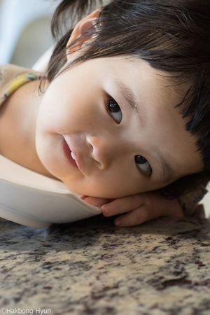 My lovely granddaughter at a restaurant in Seoul Korea