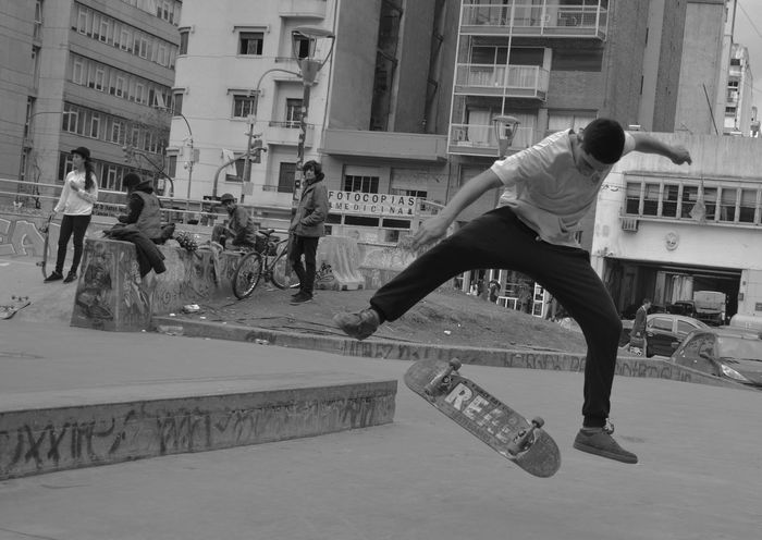 Activity Adult Architecture Breakdancing Building Exterior Built Structure Casual Clothing City Day Full Length Fun Leisure Activity Lifestyles Men Motion One Person Outdoors People Real People Skate Skatepark Skater Sport Stunt Young Adult