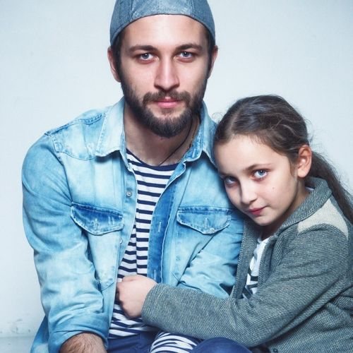 My sister and me 2 years ago 😍 Looking At Camera Two People Young Men Portrait Real People Young Adult Bonding Front View Togetherness Lifestyles Casual Clothing Denim Leisure Activity Beard Men Indoors  Denim Jacket Gray Background Young Women Close-up