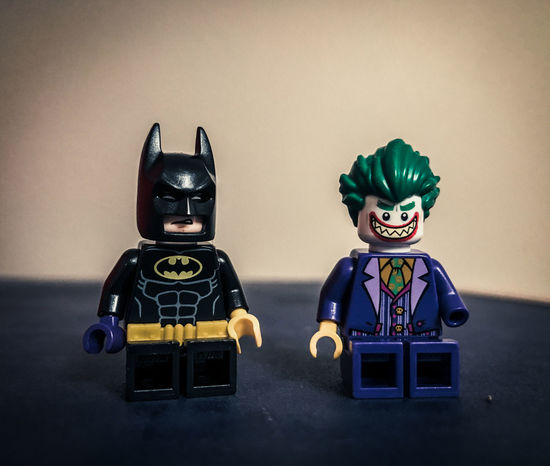 Saw Batman and Joker just hanging about. Friendly enough to trade hands! Batman Macro Photography The Joker Toys Close-up Comic Books Comics Day Human Representation Indoors  Macro No People Superheroes Table