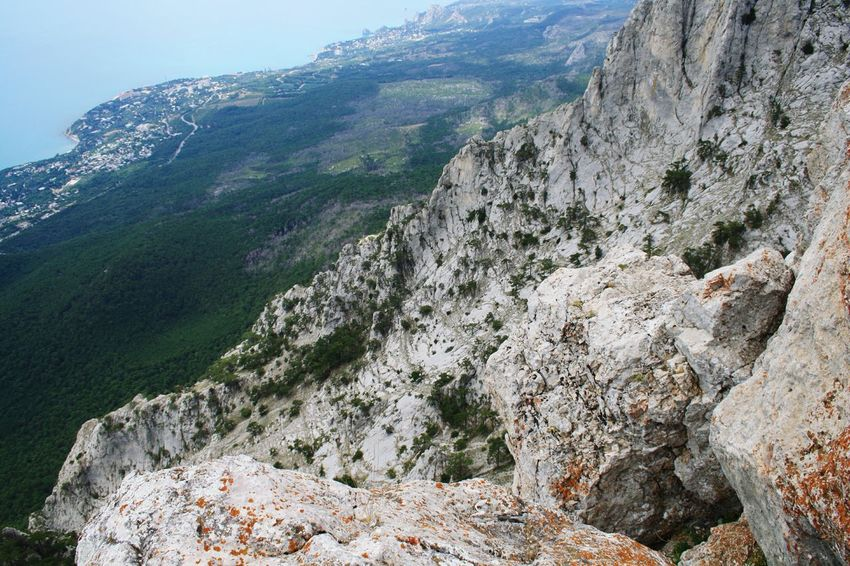 Ай-Петри Crimea Tree Mountain Cold Temperature Pinaceae Forest Sky Landscape Mountain Range Mountain Road Winding Road Rock Formation Valley Rocky Mountains Cliff Rock Natural Arch Canyon Geology