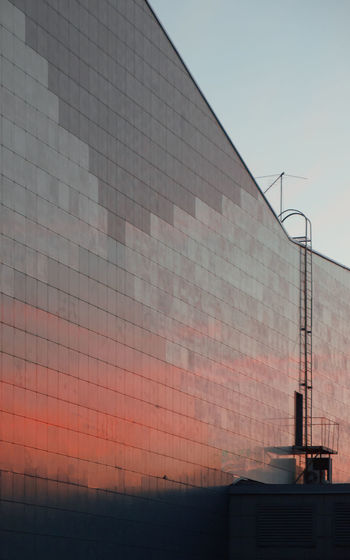 Architecture Building Exterior Built Structure Clear Sky Industry Ladder No People Outdoors Pattern Red Reflection Sky Sunset First Eyeem Photo