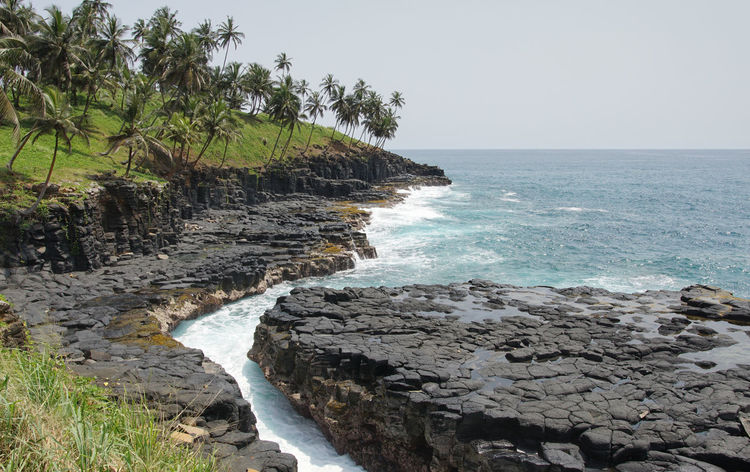 Boca de Inferno, Sao Tome and Principe, Africa Africa Atlantic Ocean Beach Boca De Inferno Coast Coastline Countryside Day Ecosystem  Environment Landscape No People Ocean Outdoors Sao Tome Sao Tome And Principe Scenery Scenics Sea Seaside Summer Tourism Travel Travel Destinations West Africa