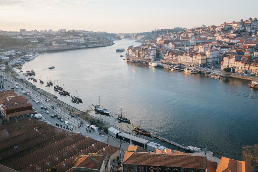 Porto 2017 Douro  Porto Portugal Architecture Bridge - Man Made Structure Building Exterior Built Structure Chain Bridge City Cityscape Day High Angle View Nature Nautical Vessel No People Outdoors River Sky Travel Destinations Water