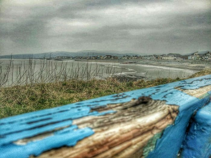 Borth, Wales again another of my son's photos .. looking down and back to Borth .. Old Paint Blue Skyporn Paint Decay Sea And Sky Village Life Under A Welsh Sky Welsh Coastline My Homeland