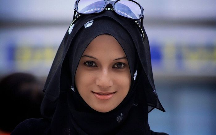 Headshot Looking At Camera Focus On Foreground One Person Portrait Smiling Real People Close-up Young Women Hood - Clothing Wearing Young Adult Leisure Activity Front View Hijab Outdoors Day Beautiful Woman Pierced My Friend ❤