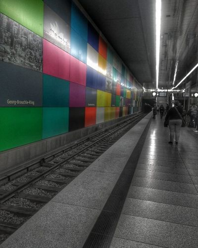 Munich Subway Station (Wiko WAX 4G) Munich Subway Station Georgbrauchle Georgbrauchlering Subwaystation Old Light Georgbrauchleringstation New Urbex Amazing Wonderful Blackandwhite Colour Colours