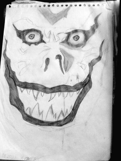 DeathNote Ryuk Oldpicture Unfinished Work... Drawing Black & White Phosphorus My Creativity Anime