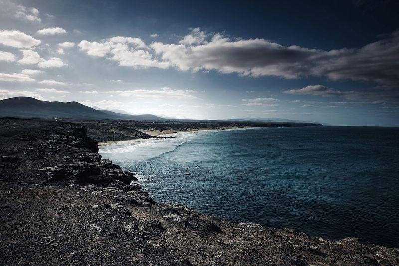 Wilderness Cliffs Cliff Fuerteventuraexperience Fuerteventura Beach Photography Beach Life Beachphotography Seaside Oceanside Ocean View Ocean Sky Water Sea Cloud - Sky Beauty In Nature Scenics - Nature Beach Idyllic Horizon Over Water Outdoors Tranquility Tranquil Scene No People Land
