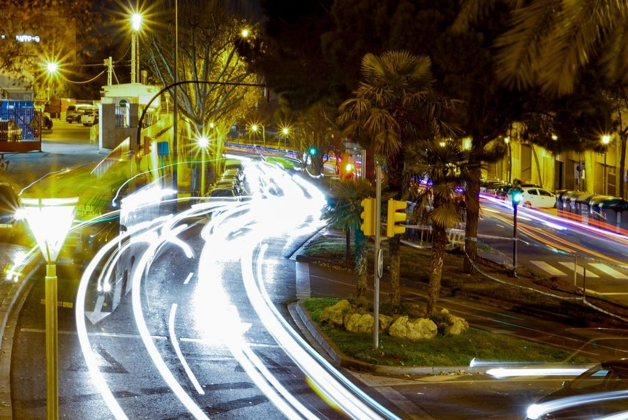 Illuminated Night Transportation Street Light Car Lighting Equipment Land Vehicle Road No People Light Trail Tree Outdoors City Tunnel Speed Architecture Citylife City Life Street Streetphotography Citynight Nightphotography Lights The Way Forward Mobility In Mega Cities