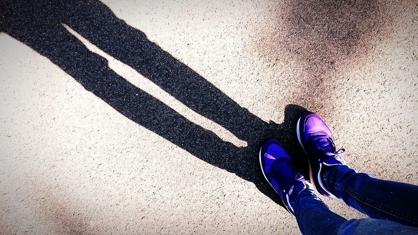My LongLegs Bony searching for Shadows in the Park love to Walking Around Discover Your City and Neighborhood Emptyhead