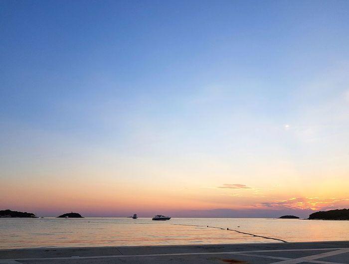 Sunset Water Clear Sky Sea Sunset Beach Low Tide Blue Nautical Vessel Sand Sunlight Romantic Sky Atmospheric Mood