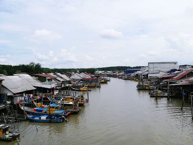 Fish village in Asia, Taiping. Nice village nice seafood nice people :) Summer Outdoors Vacations Fish Village Fishing Boat Fisherman Boat Fishing Port Boats Sea Sunny Day Cloud - Sky Community Goodday Tradition Cultures Asian