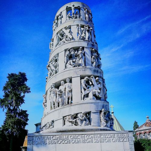 Low Angle View Blue Clear Sky Sky No People History Built Structure Architecture Outdoors Ancient Civilization Representing Day