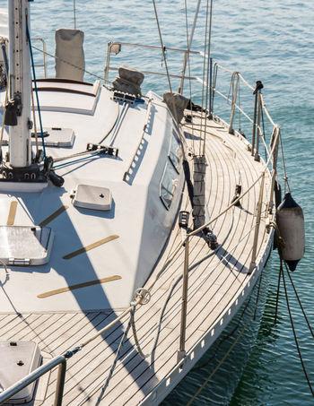 Boat Deck Cockpit Crew Day Nautical Vessel No People Outdoors Regatta Sailboat Sailing Sailing Ship Sea Wealth Yachting