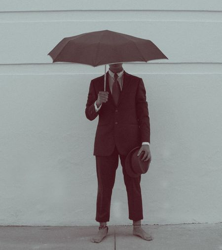 Photography Unbrella Hut Human Face Art Suit Artistic Artist Lightning Businessman Business Thunderstorm Corporate Business Full Length Men Business Person Wet Storm