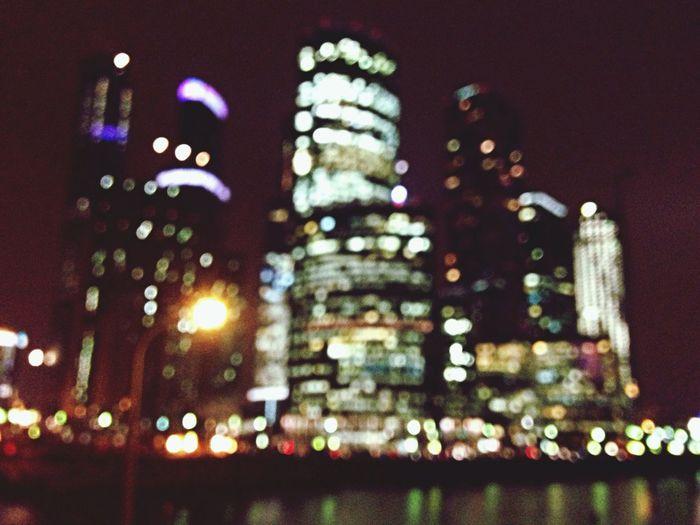 Night Lights Blur Great Views