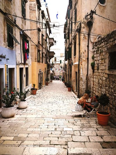 Street life in Šibenik Sibenik Croatia Travel Hrvatska Romantic Europe Trip City Architecture Building Exterior Built Structure Narrow Stairs Cobbled Pathway Cobblestone