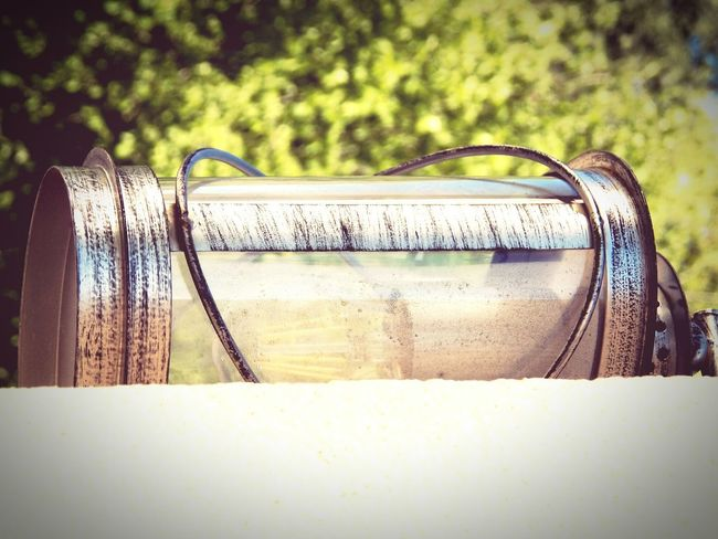 EyeEm Selects Retro Styled Old Metal Lamp Old Metal Metal - Material Glass - Material Old Lamp Light Equipment One Lamp Edited Vintage Effect Tree Bulb Outdoor The Past Horizontal Photography