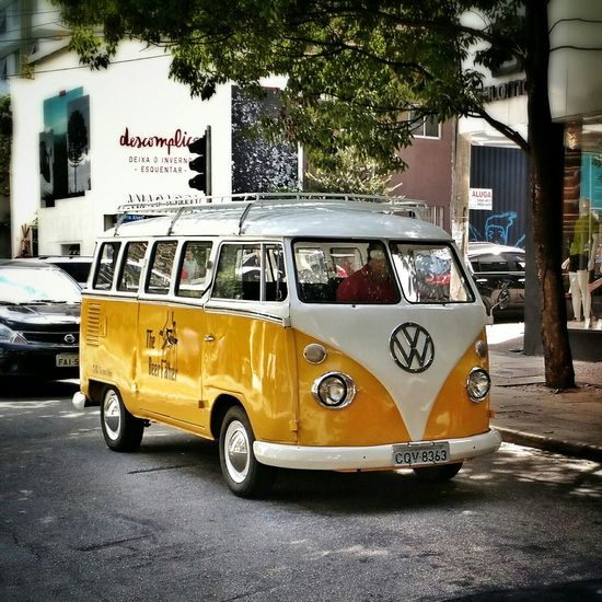 Kombi Volkswagen Kombi Car Yellowcar