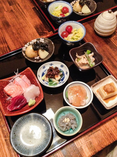 Bowl Chopsticks Day Dinner Food Food And Drink Freshness Healthy Eating High Angle View Indoors  Japanese Culture Japanese Food Japanese Food Lunch Meat No People Plate Ready-to-eat Rice - Food Staple Serving Size Set Meal Sushi Table Variation Variations