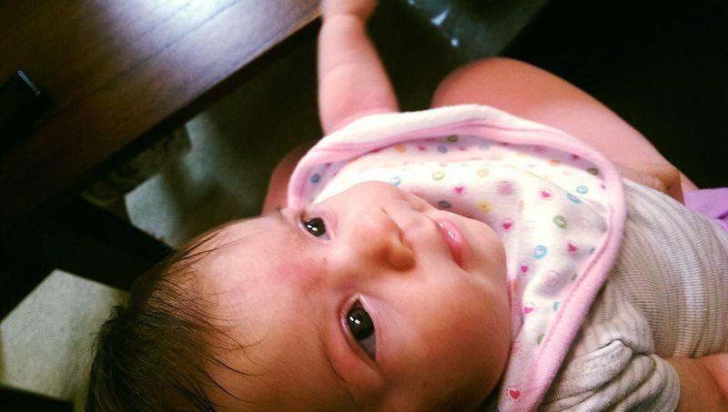 Baby In My Arms Looking Up LookingCute  Cute Eyes Babies Of Eyeem Babies