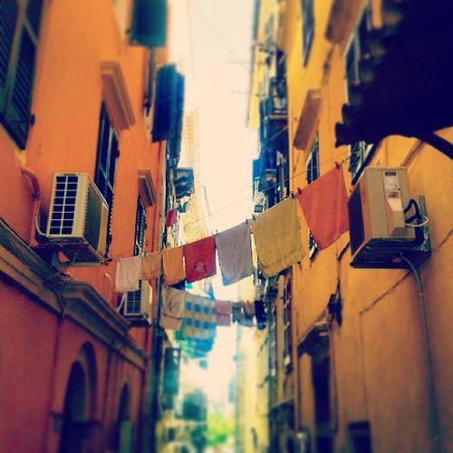 Greek streets 3 Corfu Toyalleyways Colours greece summer oldtown