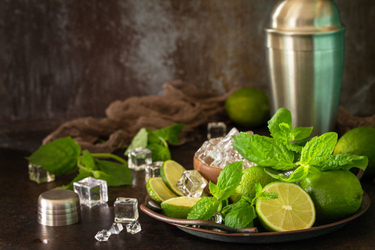 Green fruits on table