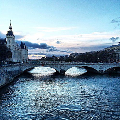 Paris Traveling Pont Cloud And Sky