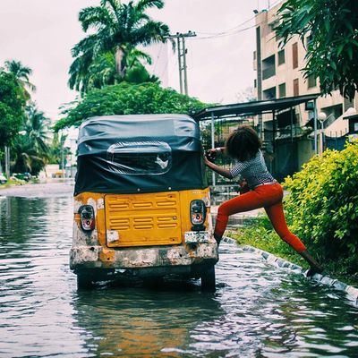 Nothing stops Naija! Taken this morning at Victoria Island. Lagos Nigeria Streetphotography Snapitoga vscocam Africa africanwoman everydayafrica