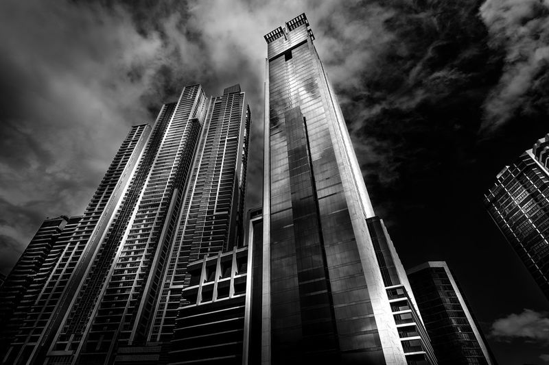 Caribe Central America Architecture Building Exterior Built Structure City Day Low Angle View Modern Monochrome No People Outdoors Sky Skyscraper Tall Tall - High Tower Travel Destinations Urban