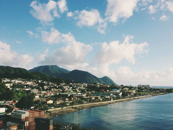 Dominica was beautiful! Architecture Beautiful Beauty In Nature Built Structure Caribbean Caribbean Island Cityscape Cloud - Sky Clouds Day Dominica Island Landscape Mountain Mountain Range Nature No People Outdoors Scenics Sea Sky Travel Tree Virgin Islands Water