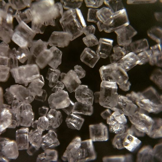 Salt crystal Macrography Mobile_camera