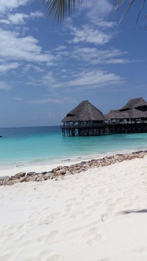 Sea Beach Water Outdoors No People Sky Sand Travel Zanzibar🏊🏄🎣